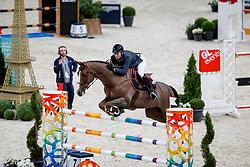 DELAVEAU Patrice (FRA), Aquila HDC<br /> Paris - FEI World Cup Finals 2018<br /> Grand Prix / Grosser Preis<br /> www.sportfotos-lafrentz.de/Stefan Lafrentz<br /> 15. April 2018