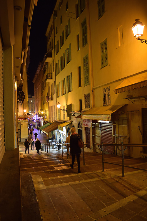 Old town Nice, Street at Night