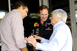 13.11.2011, Yas-Marina-Circuit, Abu Dhabi, UAE, Grosser Preis von Abu Dhabi, im Bild Gerhard Berger (AUT) - Christian Horner (GBR), Red Bull Racing, Sporting Director - Bernie Ecclestone (GBR)  // during the Formula One Championships 2011 Large price of Abu Dhabi held at the Yas-Marina-Circuit, 2011/11/13. EXPA Pictures © 2011, PhotoCredit: EXPA/ nph/ Dieter Mathis..***** ATTENTION - OUT OF GER, CRO *****