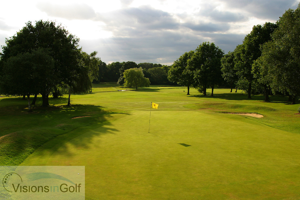 17th hole, Sundridge Park GC, West Course, Bromley, Kent. <br /> <br /> Photo Mark Newcombe / visionsingolf.com