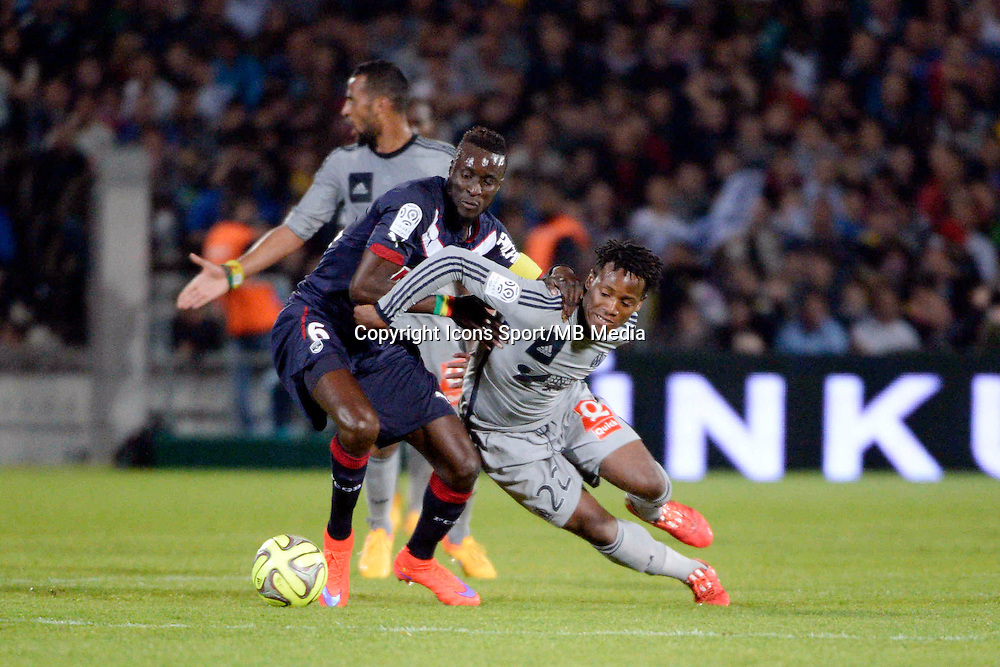 Lamine SANE / Michy BATSHUAYI - 12.04.2015 - Bordeaux / Marseille - 32eme journee de Ligue 1 <br />