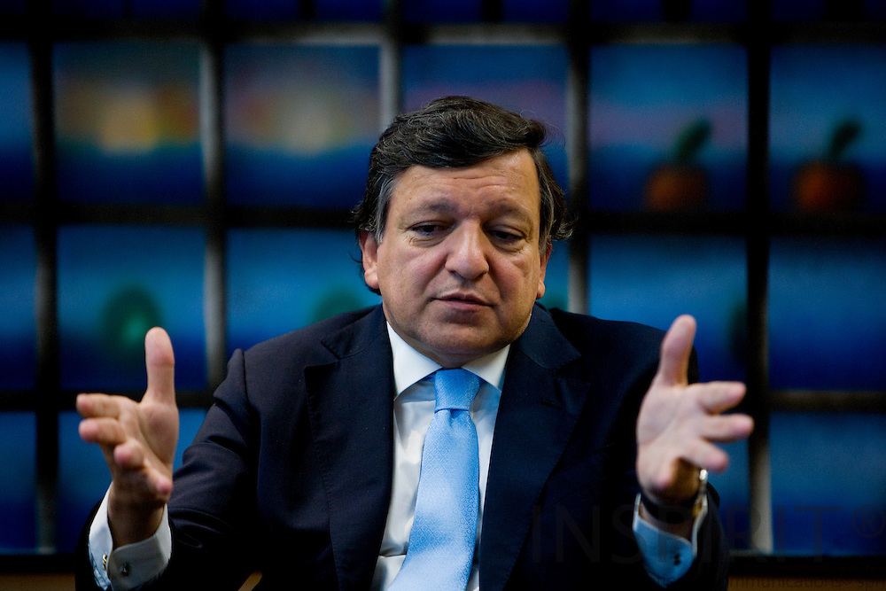BRUSSELS - BELGIUM - 03 SEPTEMBER 2009 -- President of the European Commission José Manuel Barroso during an interview.  Photo: Erik Luntang