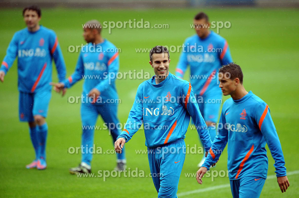 05.06.2012, Henryk Reyman Stadion, Krakau, POL, UEFA EURO 2012, Niederlande, Training, im Bild ROBIN VAN PERSIE IBRAHIM AFELLAY // during EURO 2012 Trainingssession of Netherland Nationalteam, at the Henryk Reyman Stadium, Krakau, Poland on 2012/06/05. EXPA Pictures © 2012, PhotoCredit: EXPA/ Newspix/ Maciej Gillert     ATTENTION - for AUT, SLO, CRO, SRB, SUI and SWE only *****