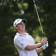 Bud Cauley, USA, in action during the third round of the Travelers Championship at the TPC River Highlands, Cromwell, Connecticut, USA. 21st June 2014. Photo Tim Clayton