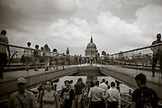 St. Paul's Cathedral, photographed from Milennium Bridge. London, England, July 23 2014. ©2014 Darren Carroll