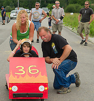 The Franklin Elks 2nd annual Soap Box Derby  on Sky Meadow Lane Saturday, July 13, 2013.  Karen Bobotas/for the Laconia Daily Sun