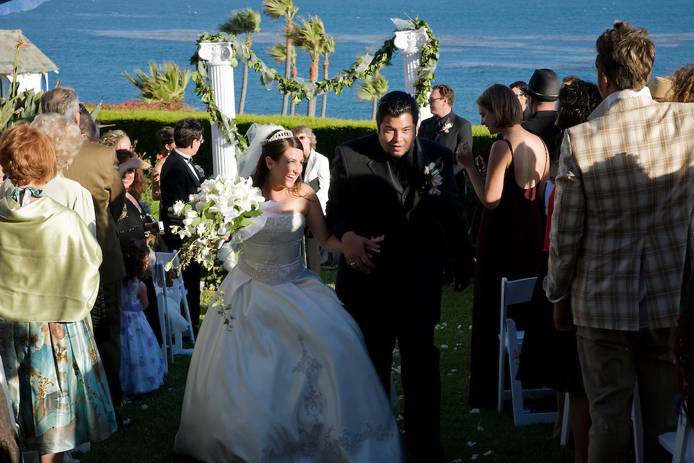Wedding and reception of William J. Clearihue and Annalisa Piraino on June 30, 2007 at the Cypress Sea Cove, Malibu, California.
