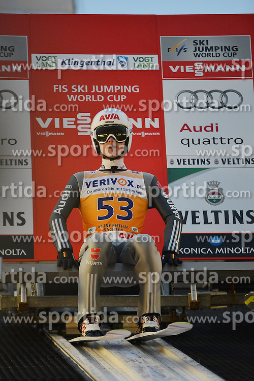 21.11.2014, Vogtland Arena, Klingenthal, GER, FIS Weltcup Ski Sprung, Klingenthal, Herren, HS 140, Qualifikation, im Bild Marinus Kraus (GER) // during the mens HS 140 qualification of FIS Ski jumping World Cup at the Vogtland Arena in Klingenthal, Germany on 2014/11/21. EXPA Pictures &copy; 2014, PhotoCredit: EXPA/ Eibner-Pressefoto/ Harzer<br /> <br /> *****ATTENTION - OUT of GER*****