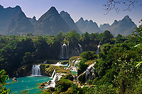 The beautiful Detian Falls lie on the border of China and Vietnam.