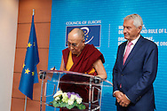 Signature of the golden book of Council of Europe