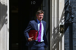© Licensed to London News Pictures. 17/07/2018. London, UK. Secretary of State for Business, Energy and Industrial Strategy Greg Clark leaves 10 Downing Street after the Cabinet meeting. Photo credit: Rob Pinney/LNP