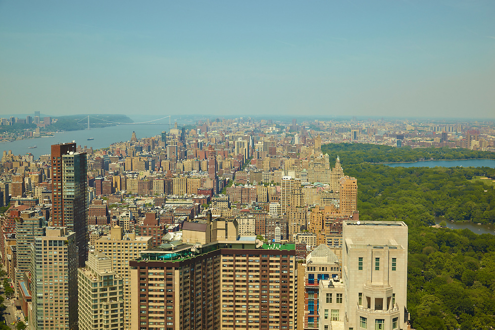 View of the Hudson River and Central Park from 25 Columbus Circle, 78th floor