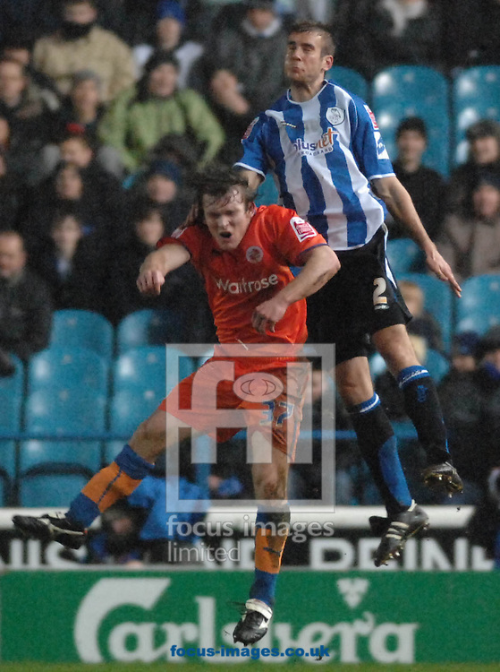 Sheffield - Tuesday, March 3rd, 2009:  Sheffield Wednesday's Tommy nSpurr and Reading FC's Jay Tabb during the Coca Cola Championship match at Hillsborough, Sheffield. (Pic by John Rushworth/Focus Images)