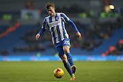 Brighton & Hove Albion striker Solly March (20) during the EFL Sky Bet Championship match between Brighton and Hove Albion and Burton Albion at the American Express Community Stadium, Brighton and Hove, England on 11 February 2017.