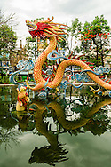 A dragon statue in Chinatown (Cholon) - District 5