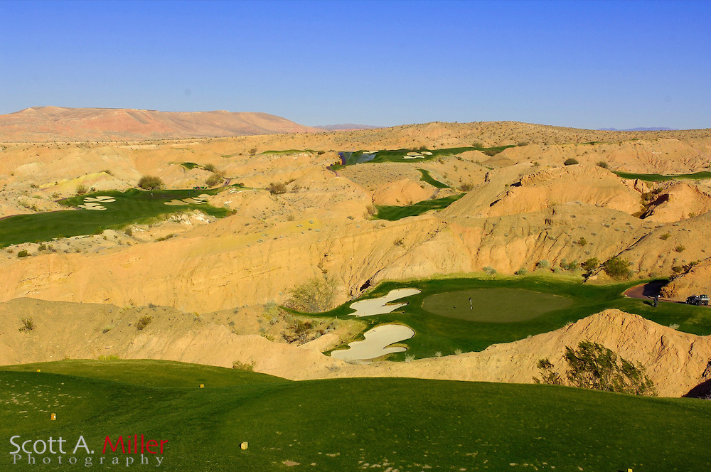 Mesquite, Nevada --- Hole No. 11 on the Wolf Creek Golf Course...Golfweek/Scott A. Miller