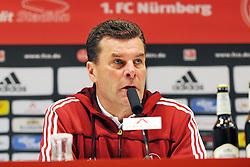 31.03.2012, Easy-Credit-Stadion, Nuernberg, GER, 1. FBL, 1. FC Nuernberg vs FC Bayern Muenchen, 28. Spieltag, im Bild Trainer Dieter Hecking (1.FC Nuernberg) im Interview nach dem Spiel. Portrait/ Portraet // during the German Bundesliga Match, 28th Round between 1. FC Nuernberg and FC Bayern Munich at the Easy-Credit-Stadium, Nuernberg, Germany on 2012/03/31. EXPA Pictures © 2012, PhotoCredit: EXPA/ Eibner/ Matthias Merz..***** ATTENTION - OUT OF GER *****