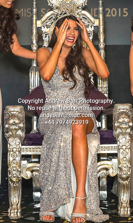 27-08-2015<br /> Miss Scotland 2015 final at Raddison Blu, Glasgow.<br /> <br /> Miss Scotland 2015 -  Mhairi Fergusson<br /> <br /> Pic:Andy Barr<br /> <br /> www.andybarr.com<br /> <br /> Copyright Andrew Barr Photography.<br /> No reuse without permission.<br /> andybarr@mac.com<br /> +44 7974923919