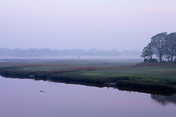 Dawn on the Black Hall River in Old Lyme Connecticut USA