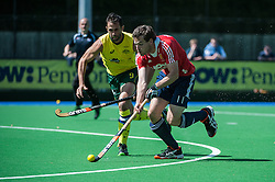England's Alastair Brogdon. England v Australia, Bisham Abbey, Marlow, UK on 25 May 2014. Photo: Simon Parker