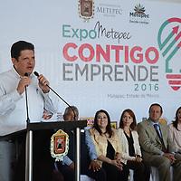 Metepec, México (Septiembre 20, 2016).- David López Cárdenas, alcalde de Metepec, durante la inauguración de la Expo Metepec Contigo Emprende. Agencia MVT / Arturo Hernández.