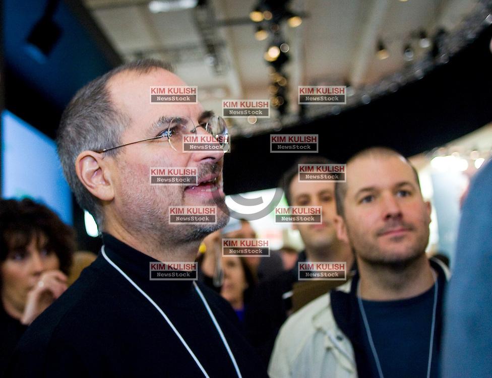 Steve Jobs and Jonathan Ive at Macworld 2005 in San Francisco, California