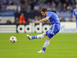 Chelsea's Frank Lampard shoots from distance - Photo mandatory by-line: Joe Meredith/JMP - Tel: Mobile: 07966 386802 22/10/2013 - SPORT - FOOTBALL - Veltins-Arena - Gelsenkirchen - FC Schalke 04 v Chelsea - CHAMPIONS LEAGUE - GROUP E