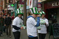 Students collecting for the charity Goal coming up to St Patricks Day in Dublin Ireland