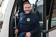 Forest Green Rovers assistant manager, Scott Lindsey during the EFL Sky Bet League 2 match between Port Vale and Forest Green Rovers at Vale Park, Burslem, England on 23 March 2019.