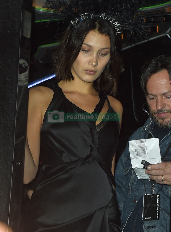 Alexander Wang's Super models party at the backstage area in Brooklyn<br />