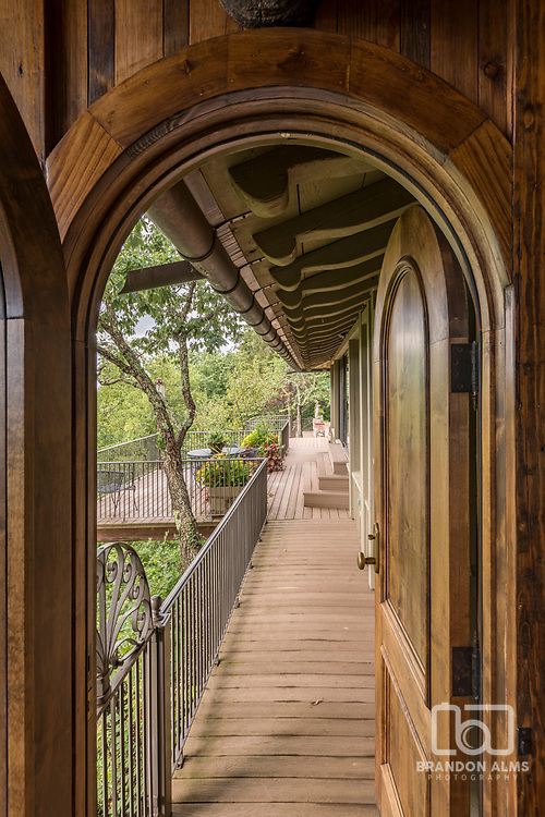 Entrance to a large balcony space. Photo by Brandon Alms Photography