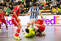 Benfica's Juanjo and Pescara's Luca Leggiero during UEFA Futsal Cup 2015/2016 3º/4º place match. April 22,2016. (ALTERPHOTOS/Acero)