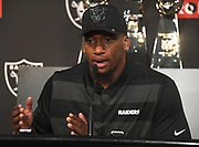 April 26, 2019: Alameda, CA, United States:  Clelin Ferrell the Oakland Raiders 4th overall selection of the 2019 NFL draft at press conference at Raiders Headquarters. (Gerome Wright/Image of Sport)