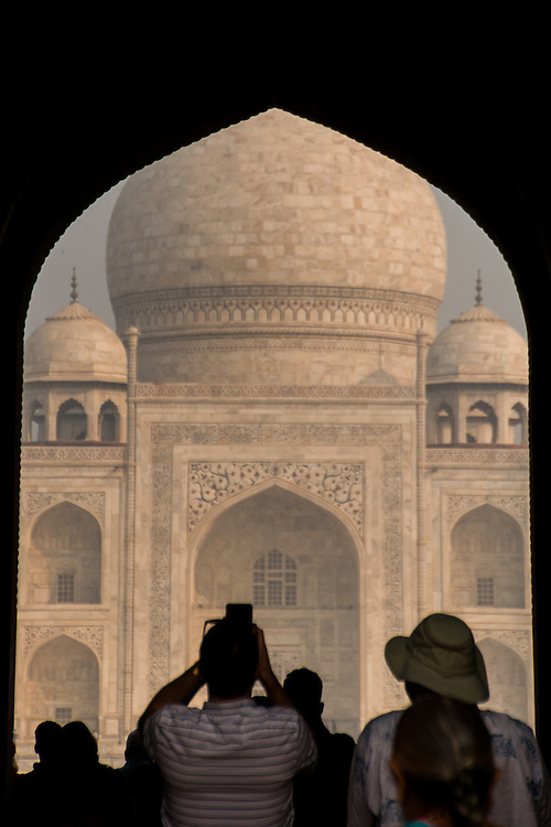 The Taj Mahal is an ivory-white marble mausoleum in the Indian city of Agra.  It was commissioned in 1632 by the Mughal emperor, Shah Jahan.