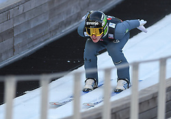 March 22, 2019 - Planica, Slovenia - Timi Zajc of Slovenia seen in action during the trial round of the FIS Ski Jumping World Cup Flying Hill Individual competition in Planica. (Credit Image: © Milos Vujinovic/SOPA Images via ZUMA Wire)