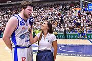 Jack Cooley, Giulia Cicchinè, <br /> Banco di Sardegna Dinamo Sassari - Umana Reyer Venezia<br /> LBA Serie A Postemobile 2018-2019 Playoff Finale Gara 6<br /> Sassari, 20/06/2019<br /> Foto L.Canu / Ciamillo-Castoria