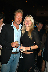 BEN FOGLE and VANESSA NIMMO at a party hosted by Frankie Dettori, Marco Pierre White and Edward Taylor to celebrate the launch of Frankie's Italian Bar & Grill at 3 Yeoman's Row, London SW3 on 2nd September 2004.