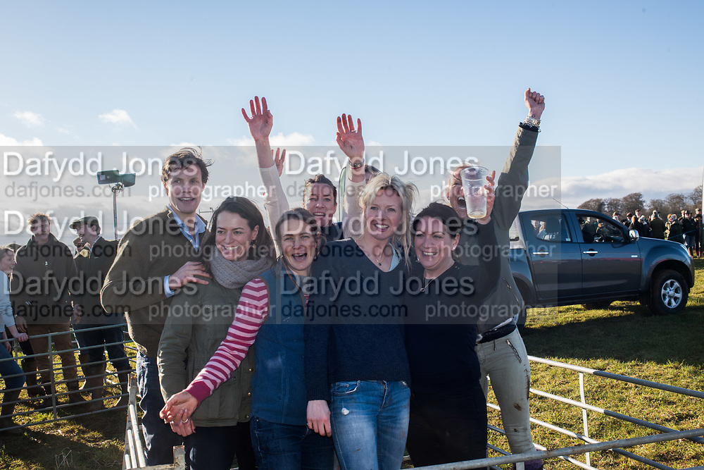 LADIES NETBALL TEAM, TOUGH FARMERS CHALLENGE, Heythrop Point to Point, Cocklebarrow, 28 January 2018