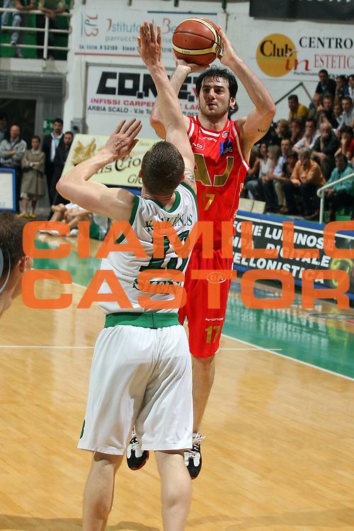 DESCRIZIONE : Siena Lega A1 2006-07 Montepaschi Siena Armani Jeans Milano<br /> GIOCATORE : Calabria<br /> SQUADRA : Armani Jeans Milano<br /> EVENTO : Campionato Lega A1 2006-2007 <br /> GARA : Montepaschi Siena Armani Jeans Milano<br /> DATA : 25/04/2007 <br /> CATEGORIA : Tiro<br /> SPORT : Pallacanestro <br /> AUTORE : Agenzia Ciamillo-Castoria/G.Ciamillo<br /> Galleria : Lega Basket A1 2006-2007 <br /> Fotonotizia : Siena Campionato Italiano Lega A1 2006-2007 Montepaschi Siena Armani Jeans Milano<br /> Predefinita :
