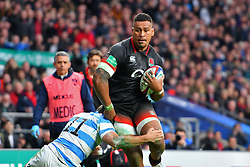 November 11, 2017 - London, England, United Kingdom - England's Nathan Hughes in action during Old Mutual Wealth Series between England against Argentina at Twickenham stadium , London on 11 Nov 2017  (Credit Image: © Kieran Galvin/NurPhoto via ZUMA Press)