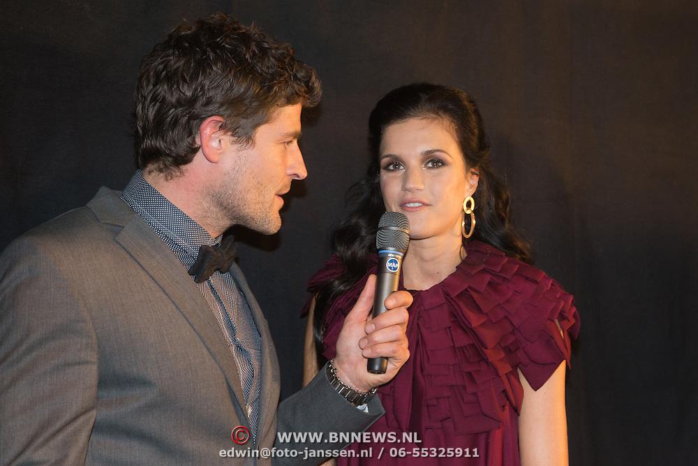 NLD/Amsterdam/20131204 - Presentatie Kerst Playboy met Marly van der Velden, Koert Jan de Bruijn in gesprek met Marly van der Velden