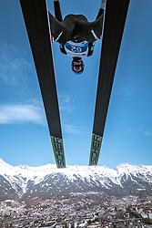 21.02.2019, Bergiselschanze, Innsbruck, AUT, FIS Weltmeisterschaften Ski Nordisch, Seefeld 2019, Nordische Kombination, Skisprung, Training, im Bild Espen Bjoernstad (NOR) // Espen Bjoernstad of Norway during a training of Ski Jumping competition for Nordic Combined of FIS Nordic Ski World Championships 2019. Bergiselschanze in Innsbruck, Austria on 2019/02/21. EXPA Pictures © 2019, PhotoCredit: EXPA/ Dominik Angerer