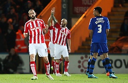 Stoke City's Marc Wilson reacts after missing a chance - Photo mandatory by-line: Matt McNulty/JMP - Mobile: 07966 386802 - 26/01/2015 - SPORT - Football - Rochdale - Spotland Stadium - Rochdale v Stoke City - FA Cup Fourth Round