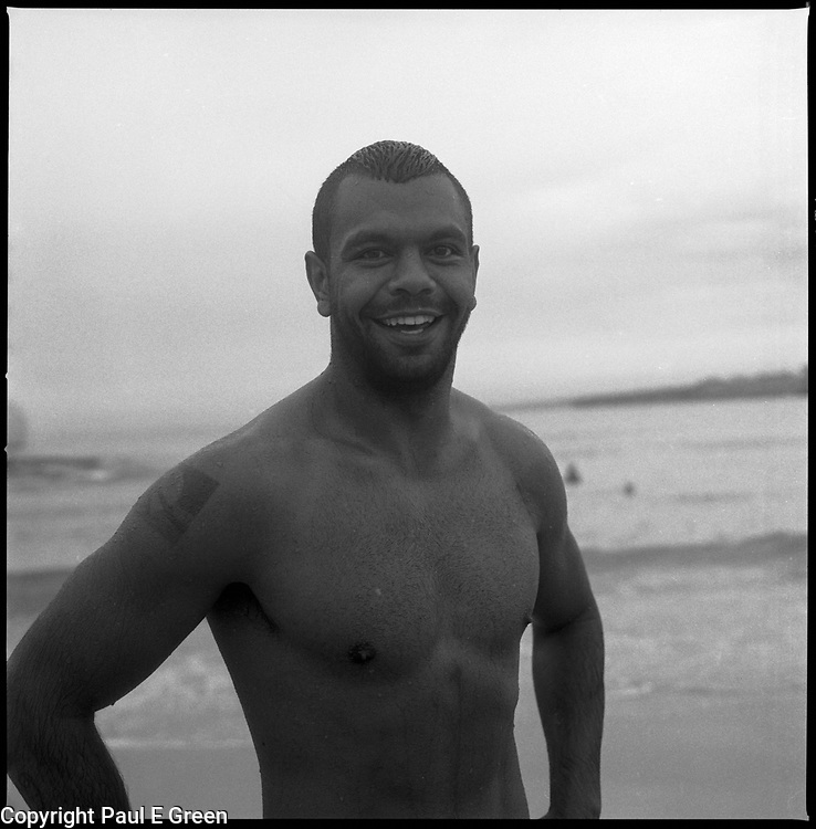 Green Rugby Player: Kurtley Beale Aboriginal Rugby Player After A Swim 2014