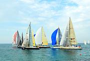 Sailboats in the Mediterranean Sea