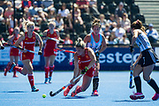 Susannah Townsend. England v Argentina, Lee Valley Hockey and Tennis Centre, London, England on 10 June 2017. Photo: Simon Parker