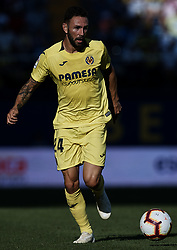 September 30, 2018 - Villarreal, Castellon, Spain - Miguel Arturo Layun Prado of Villarreal CF in action during the La Liga match between Villarreal CF and Real Valladolid at Estadio de la Ceramica on September 30, 2018 in Vila-real, Spain  (Credit Image: © David Aliaga/NurPhoto/ZUMA Press)