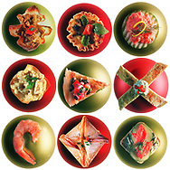 Caption: Fourteen easy appetizers for holiday entertaining. 11/28/01