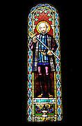 Santa Maria de Montserrat Abbey, Catalonia, Spain Stained Glass window