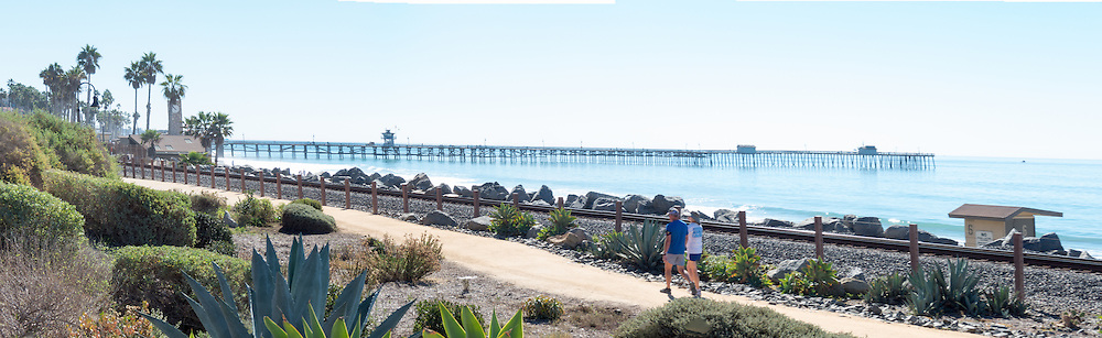 People Walking on the San Clemente Beach Trail
